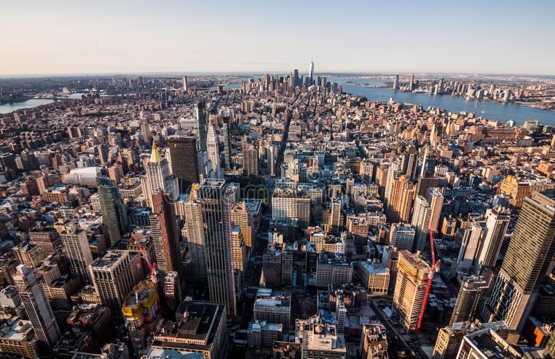 Ορίζοντας του Μανχάταν στη Νέα Υόρκη στοκ φωτογραφία με δικαίωμα ελεύθερης χρήσης
