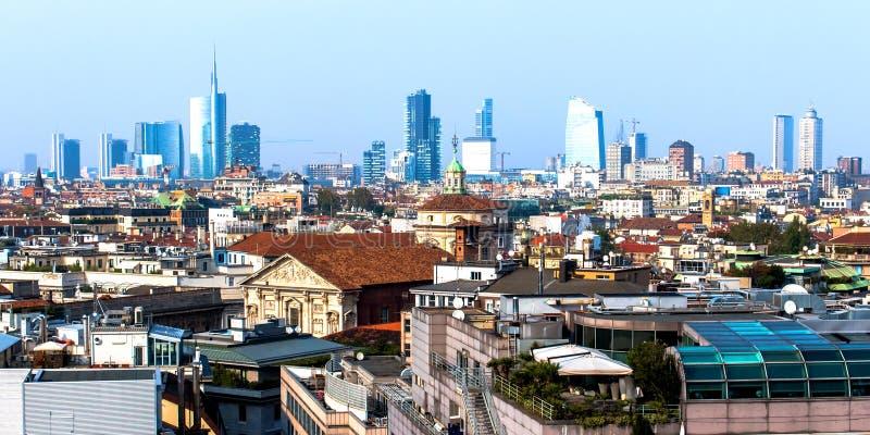 Ορίζοντας του Μιλάνου, στην Ιταλία στοκ εικόνα με δικαίωμα ελεύθερης χρήσης