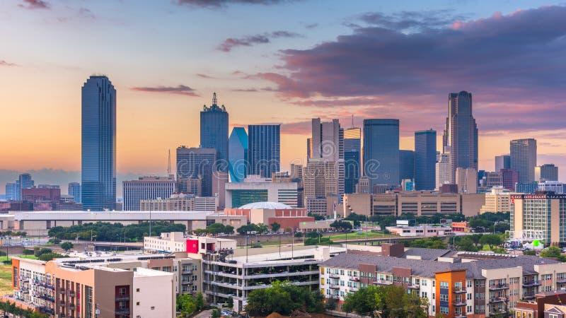 Ορίζοντας του Ντάλλας, Τέξας, ΗΠΑ στοκ εικόνα