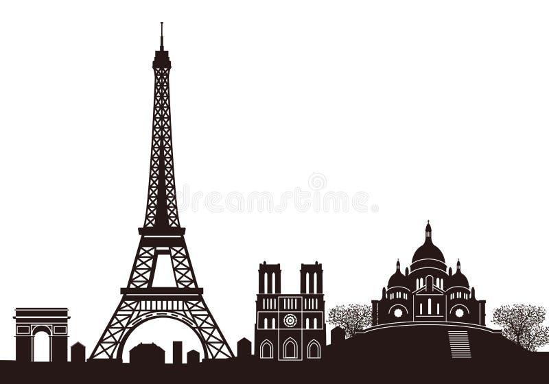 ορίζοντας του Παρισιού διανυσματική απεικόνιση
