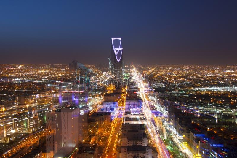 Ορίζοντας του Ριάντ τη νύχτα, ζουμ ουσιαστικά στοκ φωτογραφίες με δικαίωμα ελεύθερης χρήσης