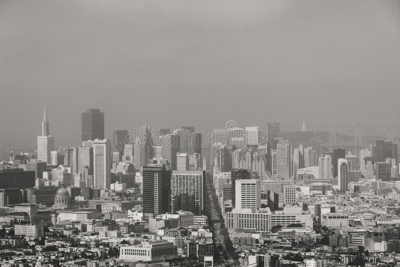 Ορίζοντας του Σαν Φρανσίσκο, ασβέστιο ΗΠΑ στοκ φωτογραφίες με δικαίωμα ελεύθερης χρήσης