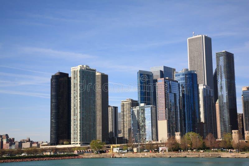 Ορίζοντας του Σικάγου στη λίμνη Μίτσιγκαν στοκ φωτογραφία με δικαίωμα ελεύθερης χρήσης