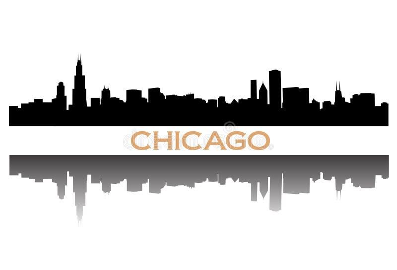 ορίζοντας του Σικάγου ελεύθερη απεικόνιση δικαιώματος