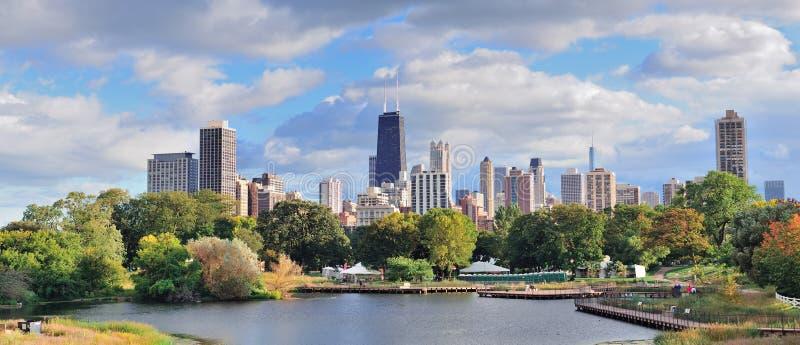 ορίζοντας του Σικάγου στοκ εικόνες με δικαίωμα ελεύθερης χρήσης