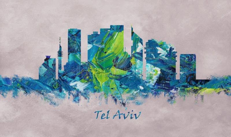 Ορίζοντας του Τελ Αβίβ Ισραήλ ελεύθερη απεικόνιση δικαιώματος