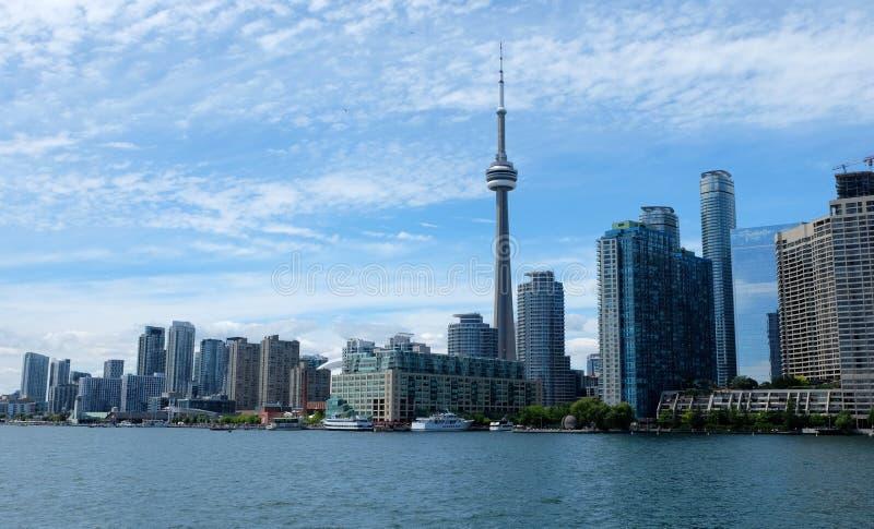 Ορίζοντας του Τορόντου στο Οντάριο, Καναδάς στοκ εικόνες