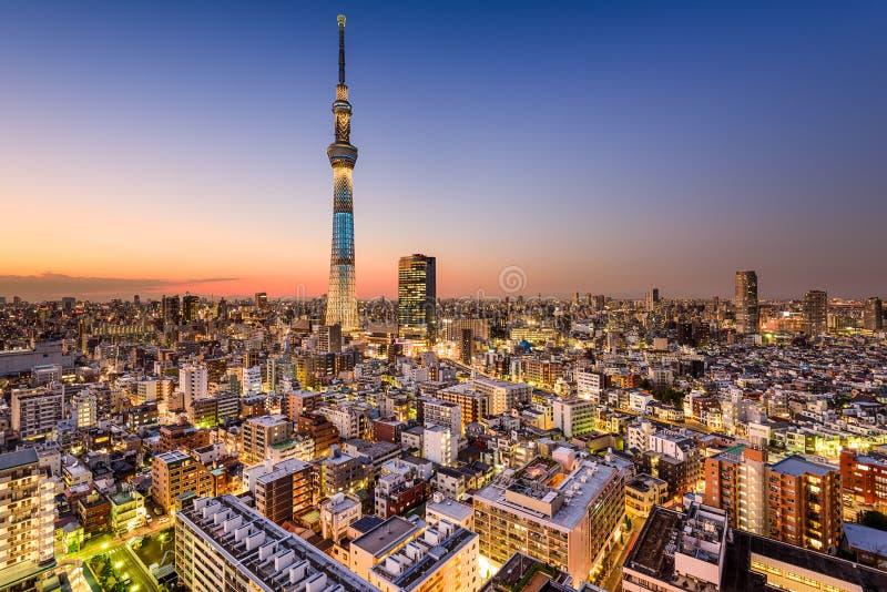 Ορίζοντας του Τόκιο με Skytree στοκ φωτογραφίες με δικαίωμα ελεύθερης χρήσης