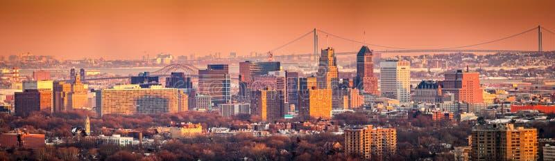 Ορίζοντας του Newark Νιου Τζέρσεϋ στοκ φωτογραφία με δικαίωμα ελεύθερης χρήσης