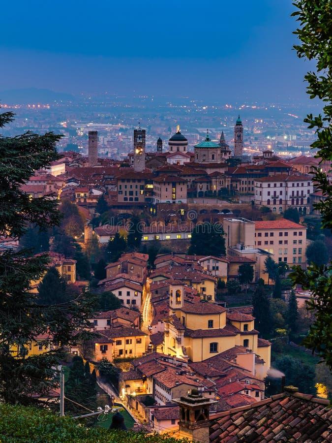 Ορίζοντας alta Città Bergamos στοκ φωτογραφία