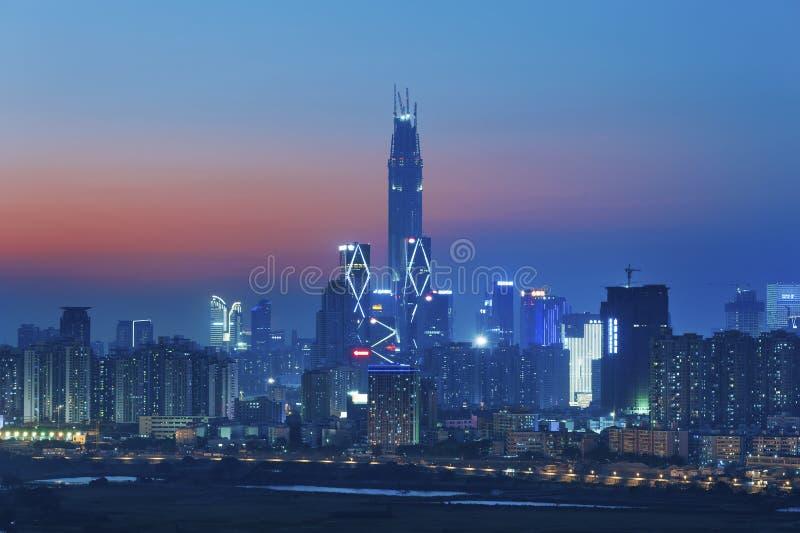 Ορίζοντας Shenzhen στοκ εικόνα