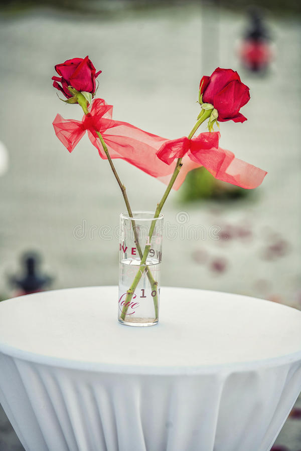 Οργάνωση γαμήλιας τελετής παραλιών στοκ φωτογραφίες με δικαίωμα ελεύθερης χρήσης
