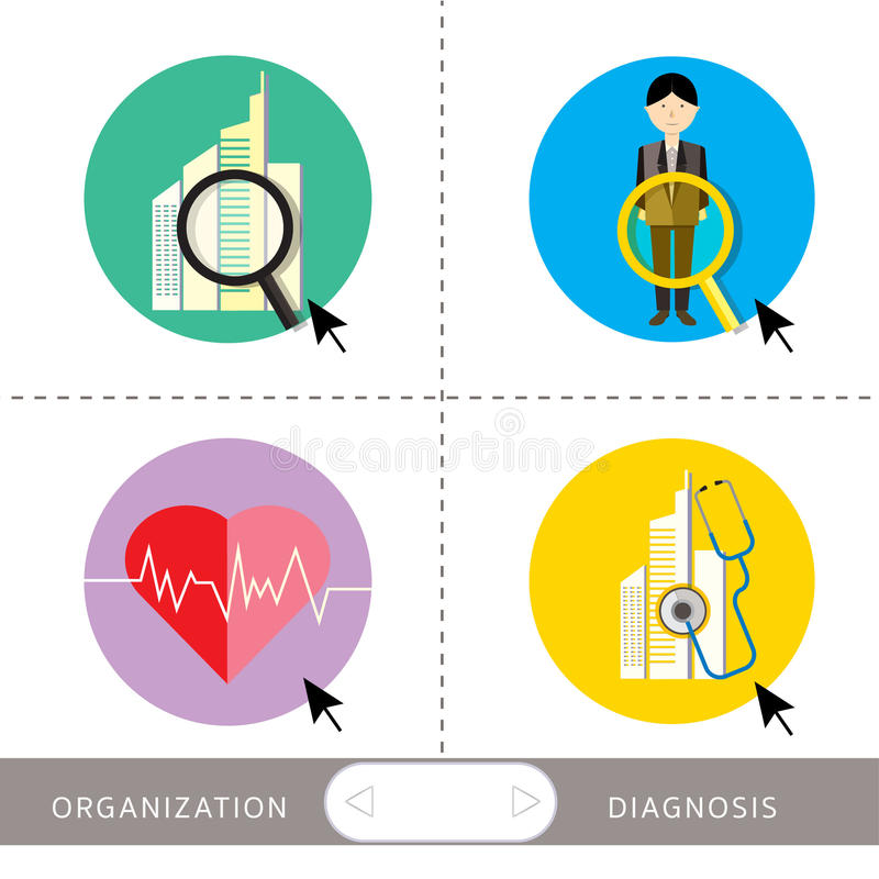 Οργάνωση και επιχειρησιακή διάγνωση στοκ εικόνες