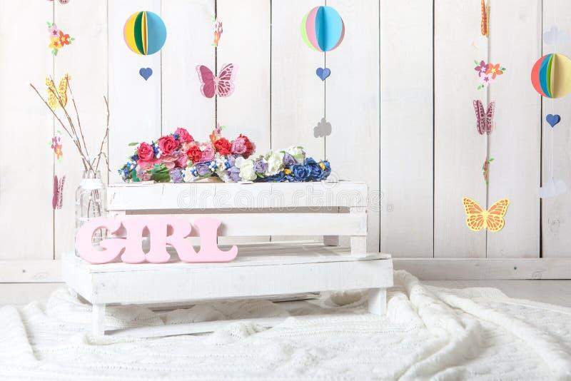 Οργάνωση υποβάθρου στούντιο φωτογραφίας μωρών στοκ φωτογραφίες με δικαίωμα ελεύθερης χρήσης
