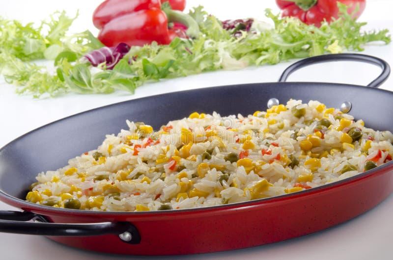οργανικά ισπανικά λαχανικά paella στοκ φωτογραφίες