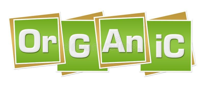 Οργανικά πράσινα τετράγωνα απεικόνιση αποθεμάτων