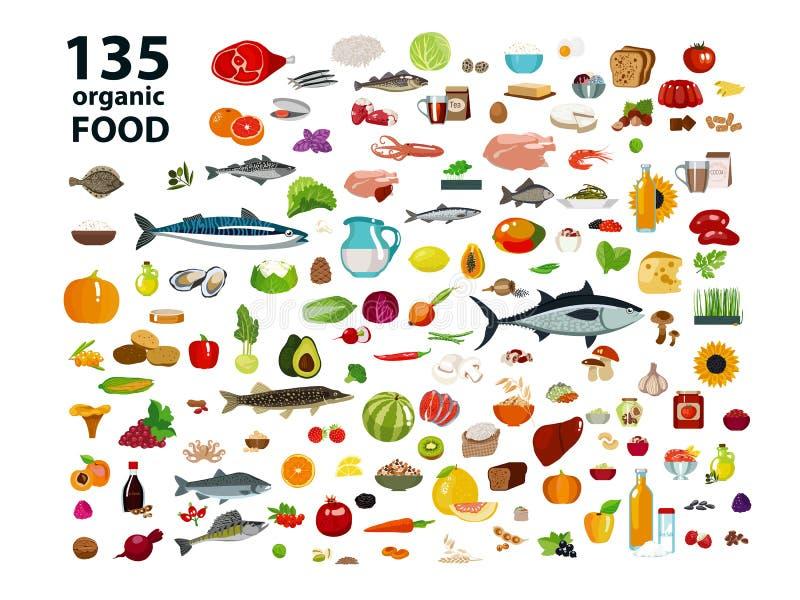 135 οργανικά προϊόντα ελεύθερη απεικόνιση δικαιώματος