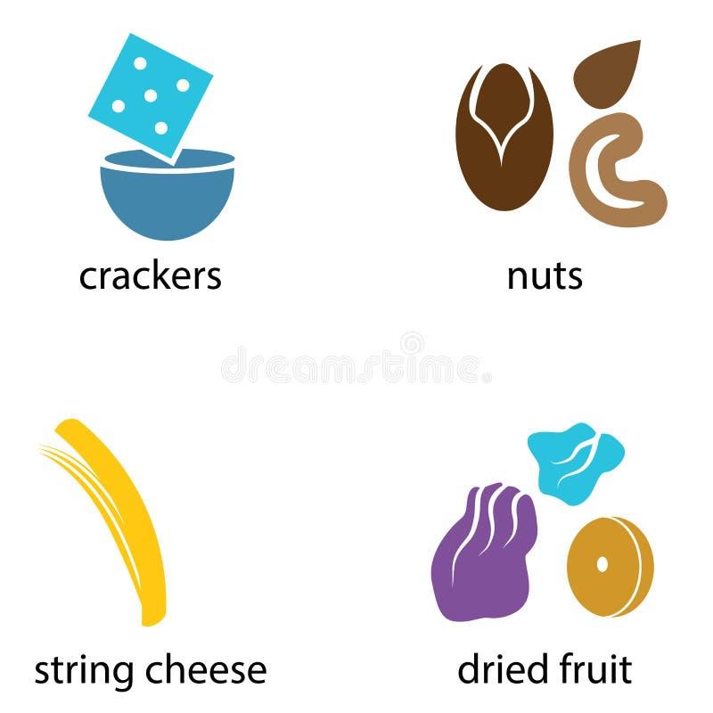 Οργανικά τρόφιμα πρόχειρων φαγητών ελεύθερη απεικόνιση δικαιώματος