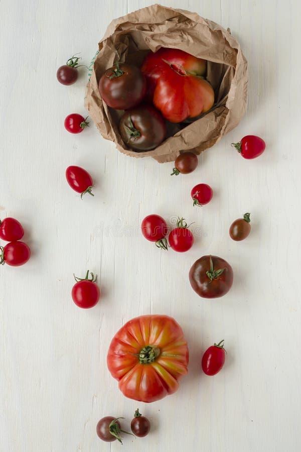οργανικές ντομάτες γελειότητας στοκ εικόνα με δικαίωμα ελεύθερης χρήσης