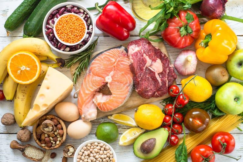 Οργανική τροφή για την υγιή διατροφή στοκ εικόνες