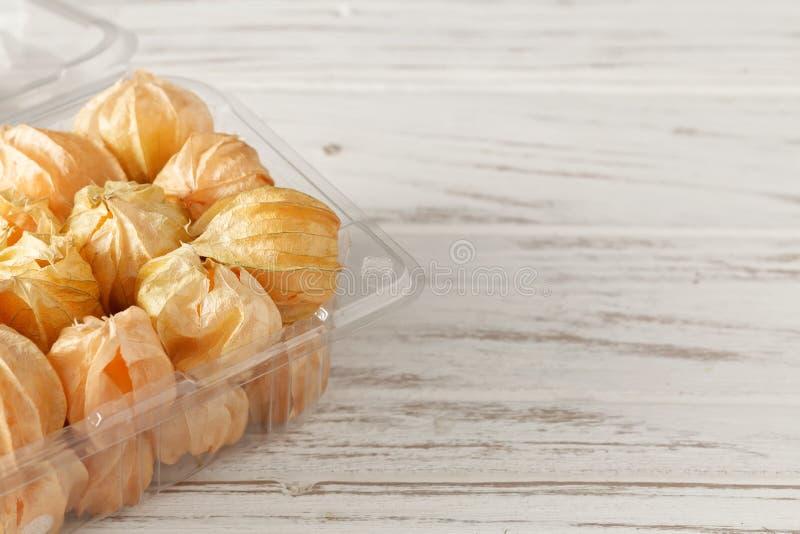 Οργανική τροφή επίγειων κερασιών ριβησίων ακρωτηρίων φρούτων Physalis vegetabl στοκ φωτογραφίες με δικαίωμα ελεύθερης χρήσης