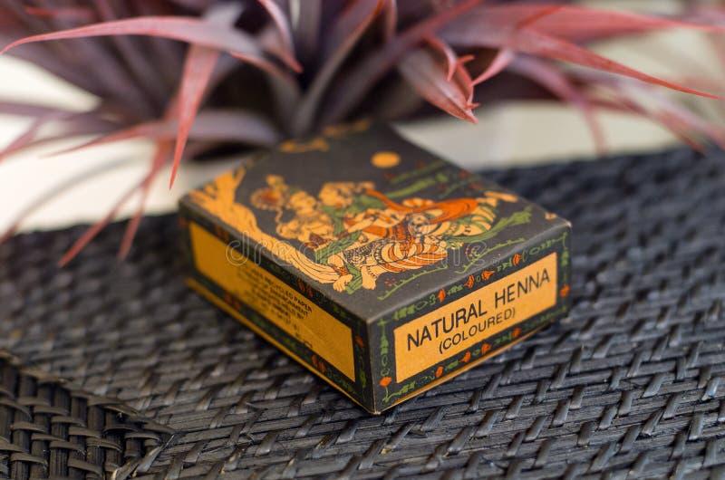 Οργανική Henna χρωστική ουσία τρίχας στοκ φωτογραφία με δικαίωμα ελεύθερης χρήσης