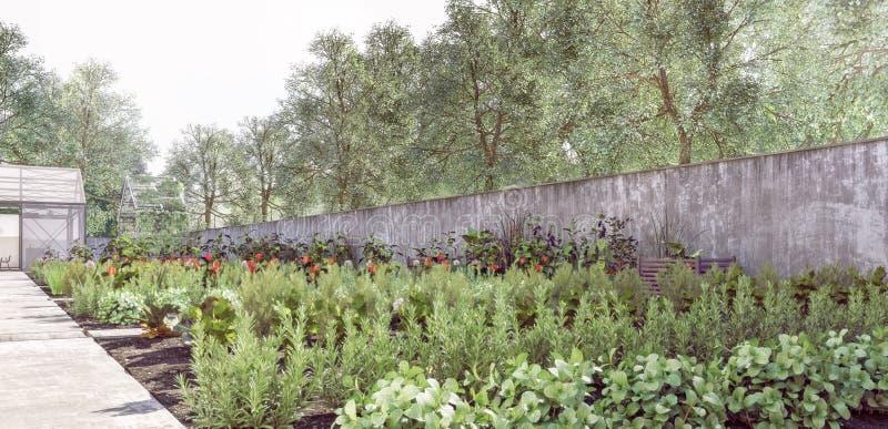 Οργανικός κήπος - βιώσιμος, συντήρηση της φύσης στοκ φωτογραφίες