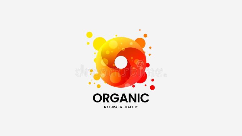Οργανικό διανυσματικό σημάδι λογότυπων δαχτυλιδιών για την εταιρική ταυτότητα Απεικόνιση εμβλημάτων Logotype Ζωηρόχρωμο σχεδιάγρα διανυσματική απεικόνιση
