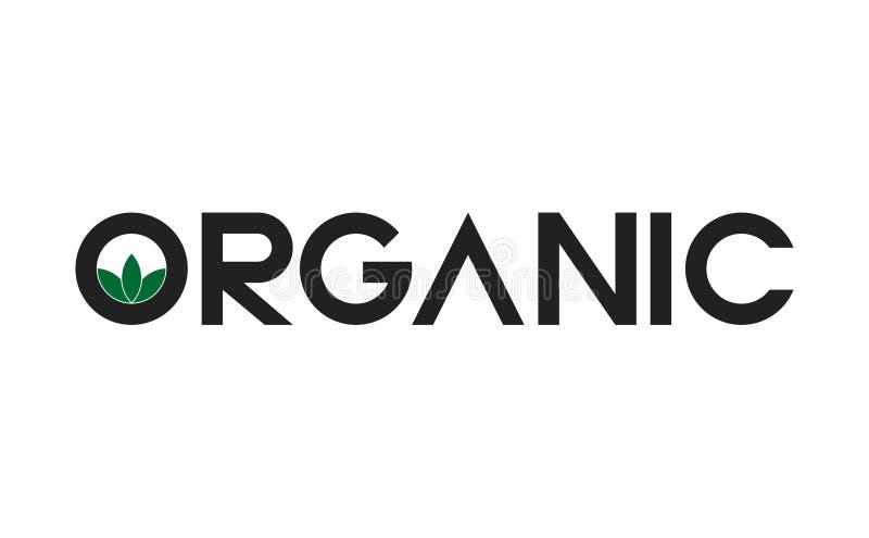 Οργανικό λογότυπο κειμένων φύλλων απεικόνιση αποθεμάτων