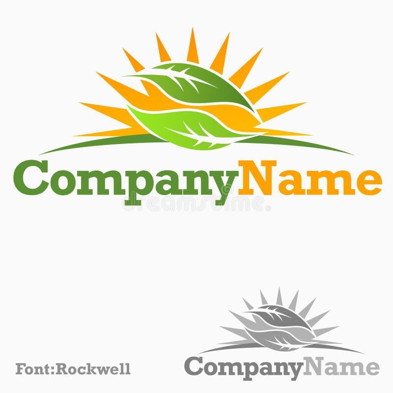 Οργανικό λογότυπο διανυσματική απεικόνιση