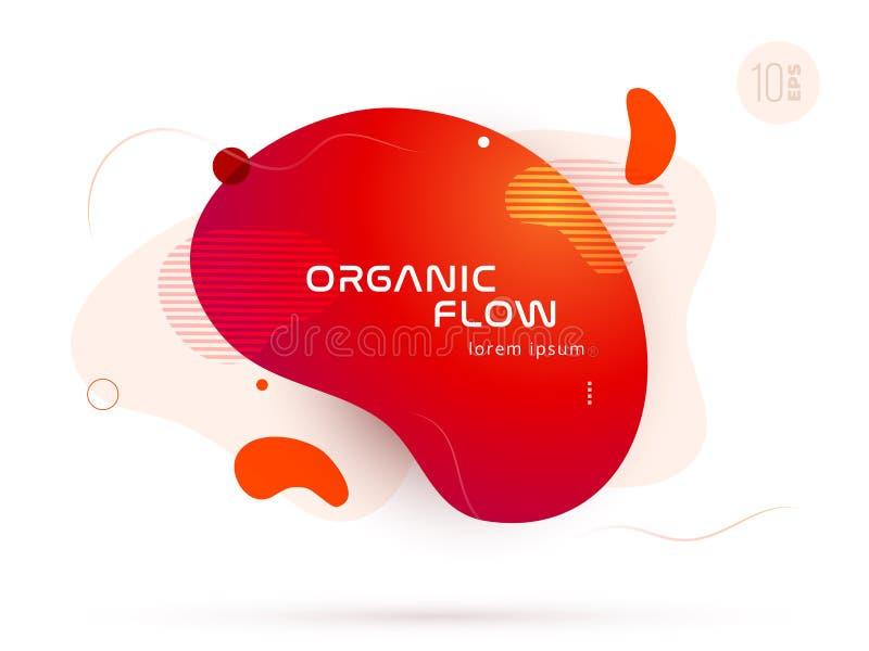 Οργανικό σχέδιο των υγρών αφηρημένων γεωμετρικών μορφών χρώματος Ρευστά στοιχεία κλίσης για το ελάχιστο έμβλημα, λογότυπο, κοινων διανυσματική απεικόνιση
