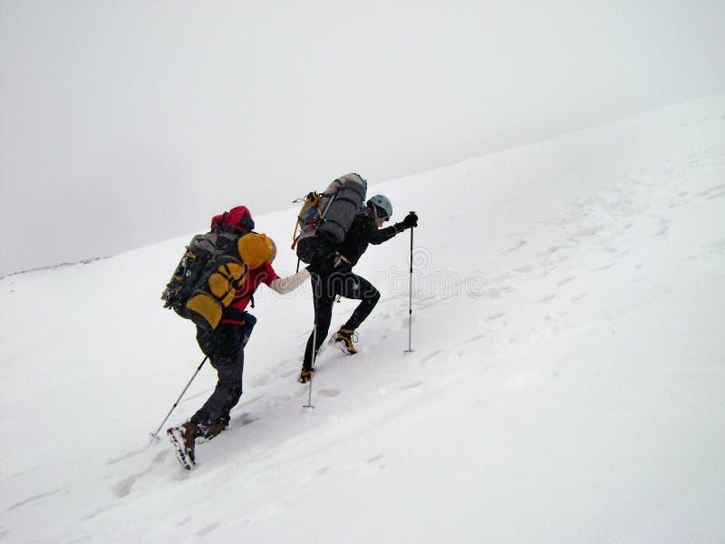 Ορειβάτης που απομονώνεται στο άσπρο υπόβαθρο στοκ εικόνα με δικαίωμα ελεύθερης χρήσης