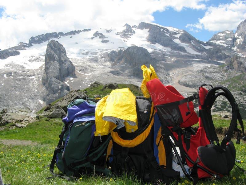 ορειβασία εξοπλισμού στοκ εικόνες