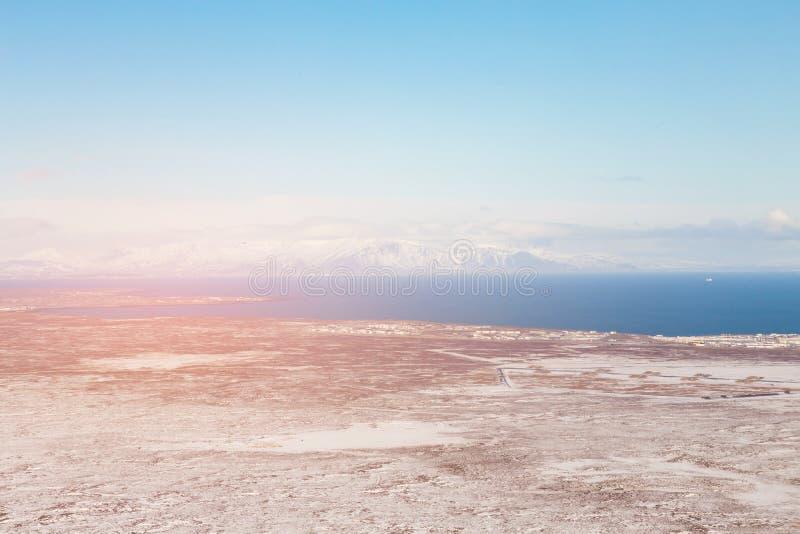 Ορεινή περιοχή κατά τη διάρκεια της χειμερινής εποχής της Ισλανδίας στοκ φωτογραφία με δικαίωμα ελεύθερης χρήσης