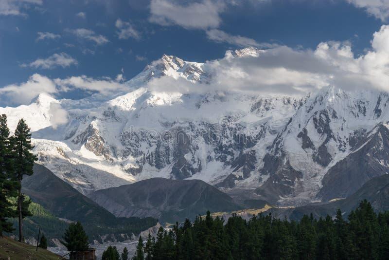 Ορεινός όγκος βουνών Parbat Nanga στο λιβάδι νεράιδων, Chilas, Bal Gilgit στοκ εικόνες