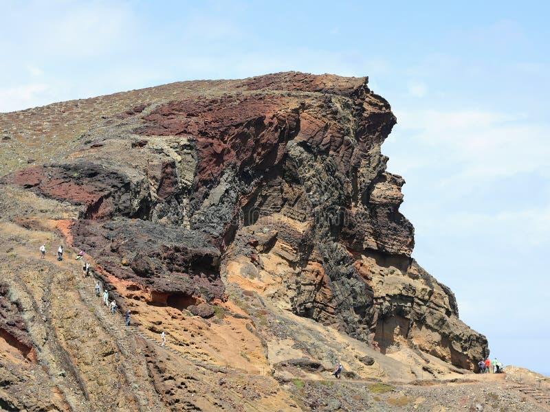 Ορεινός όγκος βράχου Ponta de São Lourenço στη Μαδέρα στοκ εικόνες