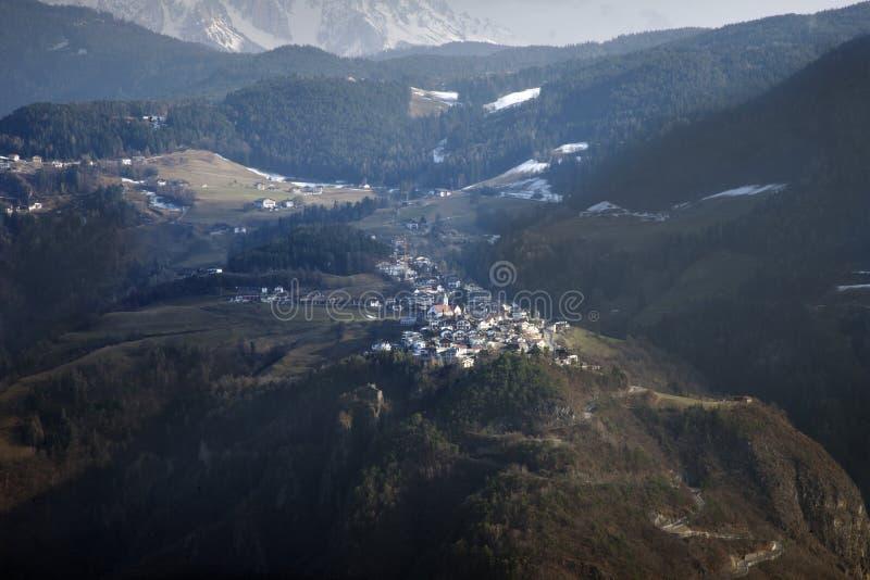 Ορεινός όγκος Sciliar, όρος Siusi, επάνω από το Μπολτζάνο στοκ φωτογραφίες με δικαίωμα ελεύθερης χρήσης