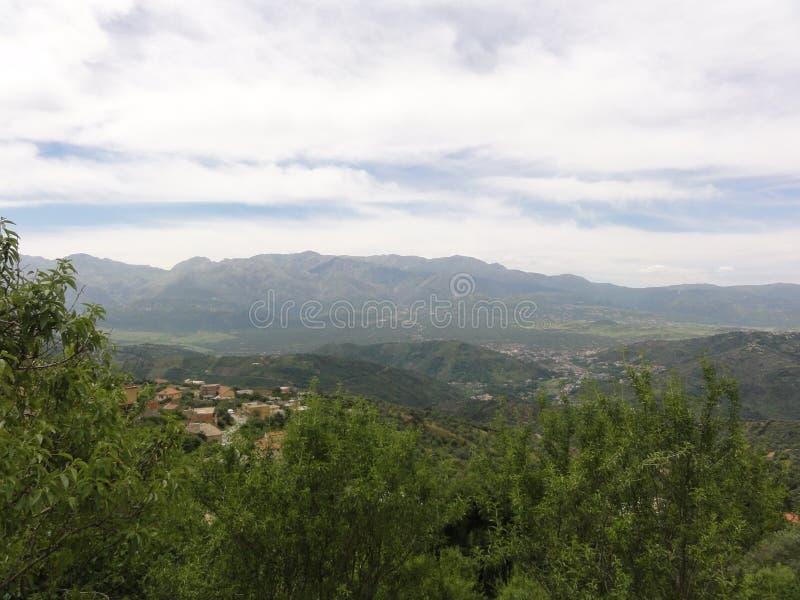 Ορεινό τοπίο σε Kabylia Βουνά Kabyle στοκ εικόνα με δικαίωμα ελεύθερης χρήσης
