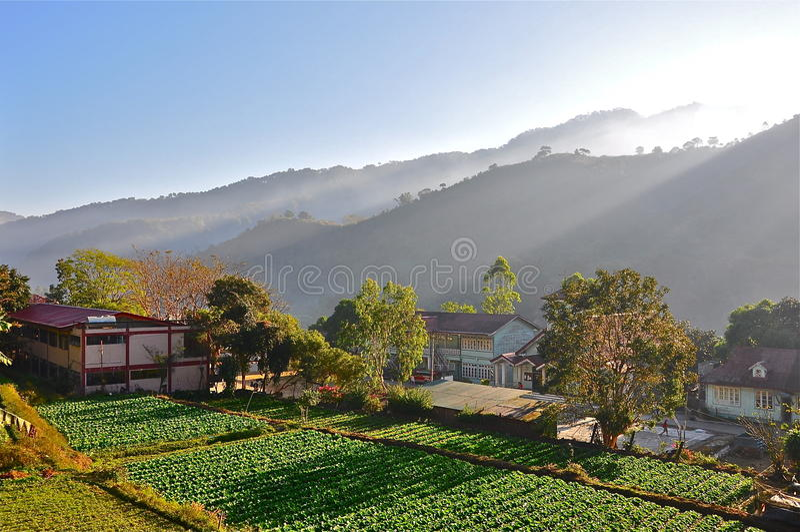 ορεινό χωριό στοκ φωτογραφίες