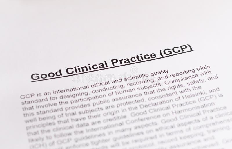 Ορθή κλινική πρακτική. GCP. στοκ φωτογραφία με δικαίωμα ελεύθερης χρήσης