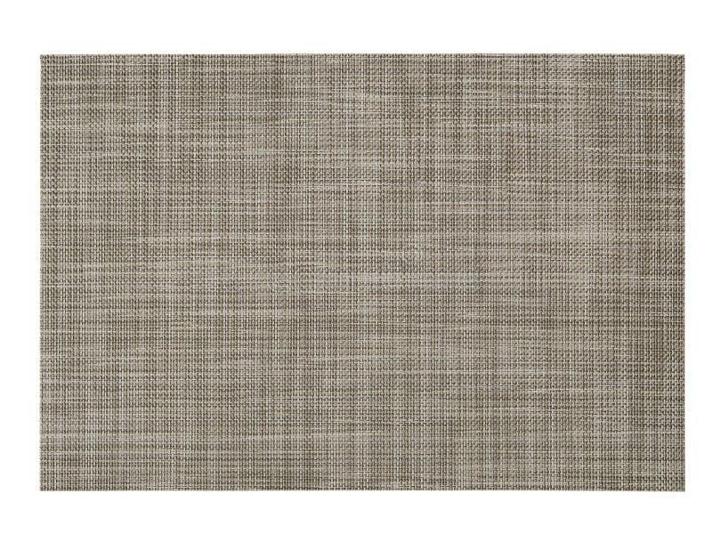Ορθογώνια εξυπηρετώντας πετσέτα Κενό τραπεζομάντιλο στο άσπρο υπόβαθρο στοκ φωτογραφία