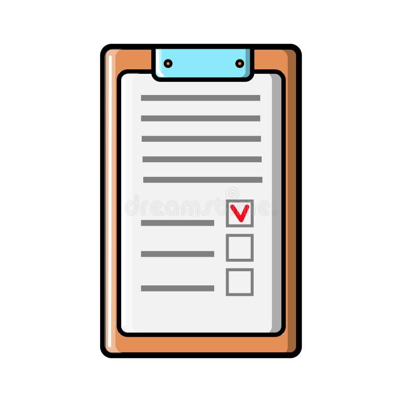 Ορθογώνια επιχειρησιακή ταμπλέτα εγγράφου για τα αρχεία με έναν συνδετήρα, ένα ιατρικό σημειωματάριο για τις συνταγές με ένα ιατρ ελεύθερη απεικόνιση δικαιώματος