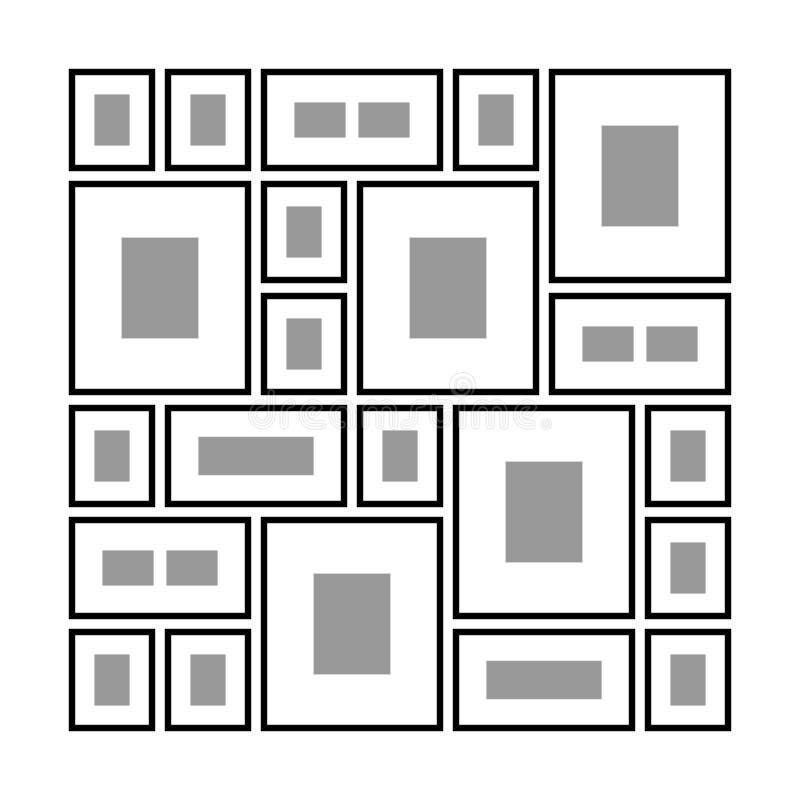 Ορθογώνια πλαίσια στον τοίχο απεικόνιση αποθεμάτων