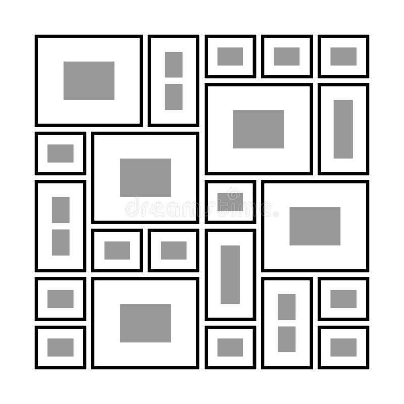 Ορθογώνια πλαίσια στον τοίχο ελεύθερη απεικόνιση δικαιώματος