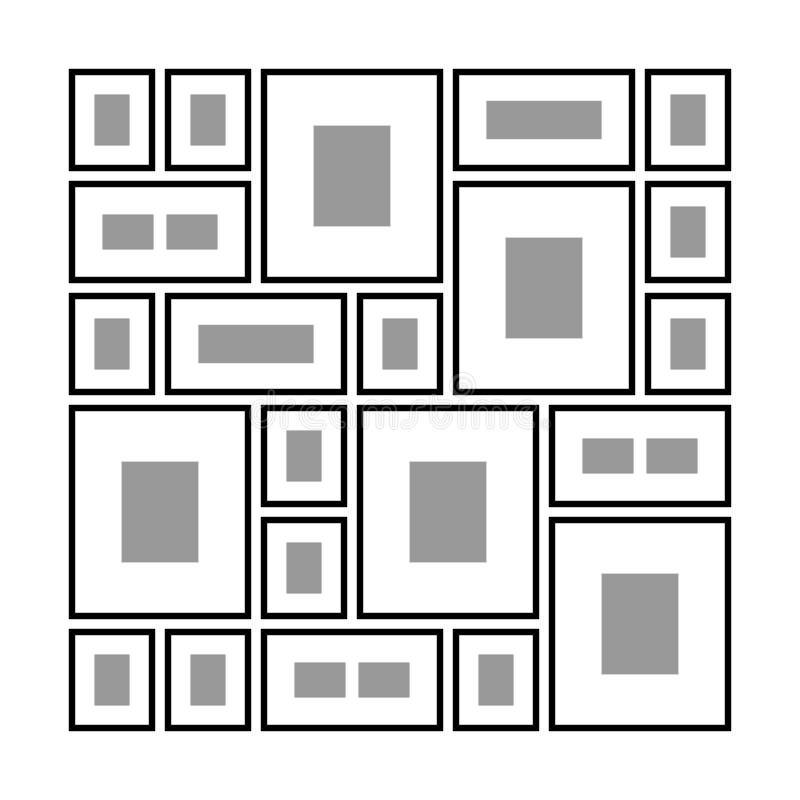 Ορθογώνια πλαίσια στον τοίχο διανυσματική απεικόνιση