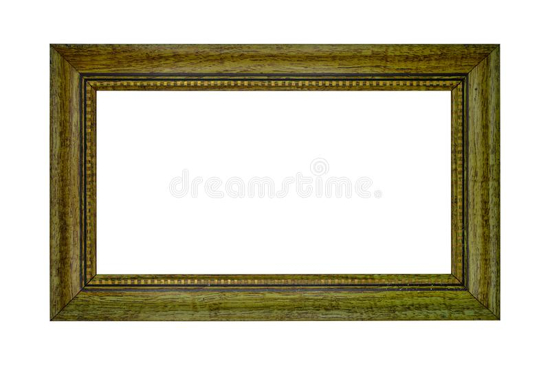 Ορθογώνιο και καφετί κοίλο ξύλινο πλαίσιο στοκ φωτογραφία