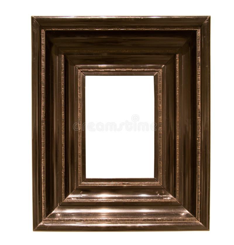 Ορθογώνιο πλαίσιο για έναν καθρέφτη στο απομονωμένο υπόβαθρο στοκ φωτογραφίες