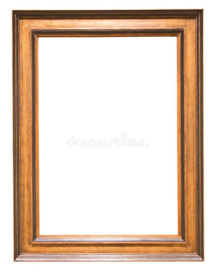 Ορθογώνιο πλαίσιο για έναν καθρέφτη στο απομονωμένο υπόβαθρο στοκ φωτογραφία με δικαίωμα ελεύθερης χρήσης
