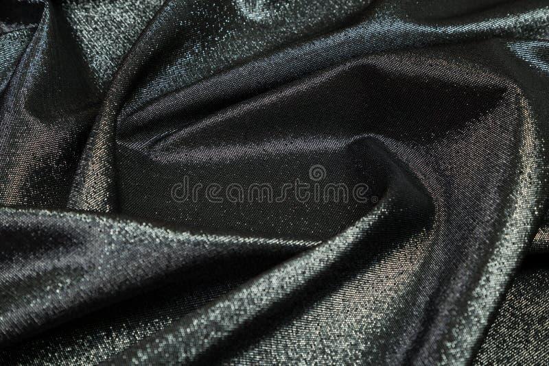 Ορθογώνιο πλαίσιο του μαύρου λαμπρού υφάσματος που ευθυγραμμίζεται στοκ εικόνες με δικαίωμα ελεύθερης χρήσης