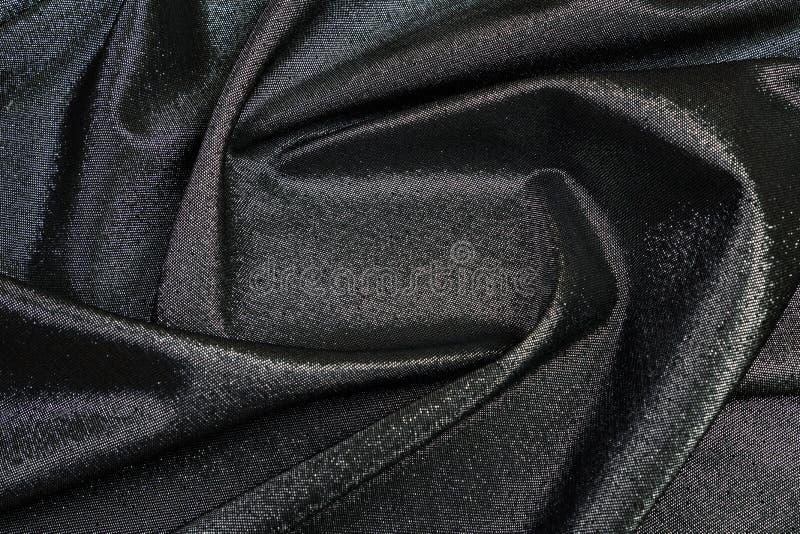 Ορθογώνιο πλαίσιο του μαύρου λαμπρού υφάσματος που ευθυγραμμίζεται στοκ εικόνα με δικαίωμα ελεύθερης χρήσης
